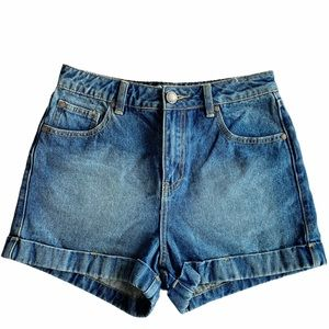 MISS SELFRIDGE Cuffed Denim Shorts